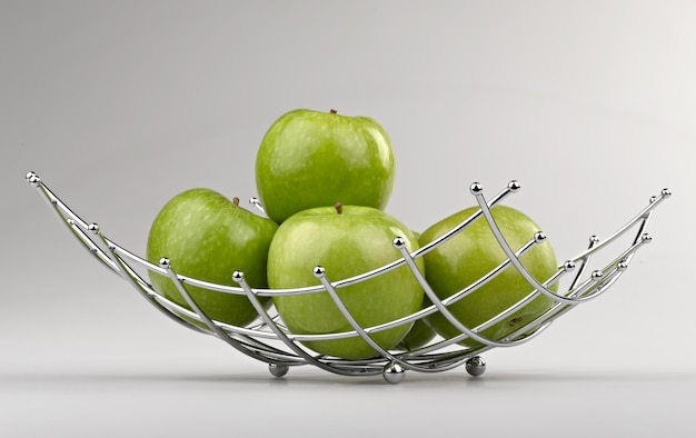 Corbeille à fruits de style moderne en fil d'acier