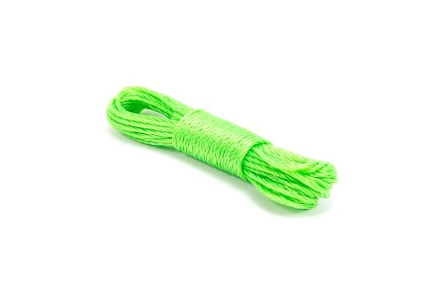 Corde isolée avec un tracé de détourage