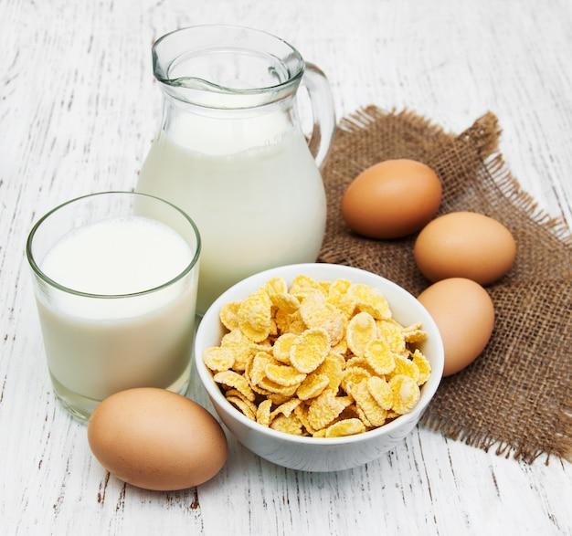Cornflakes au lait
