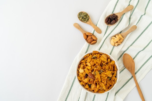 Cornflakes avec mélange de céréales