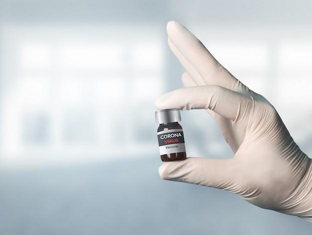 Coronavirus covid-19 concept de recherche et de développement de vaccins de test médical
