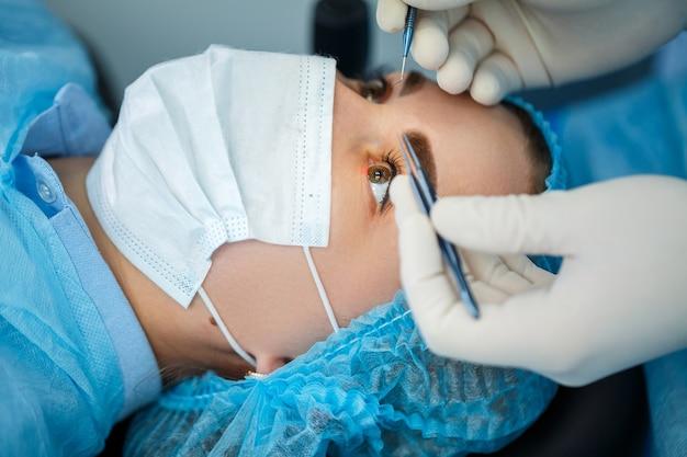 Correction de la vue au laser. traitement du glaucome. technologies médicales pour la chirurgie oculaire.