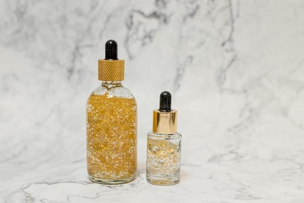 Cosmétique spa, produits de bien-être. huile de sérum crème de soin. cosmétique beauté du visage