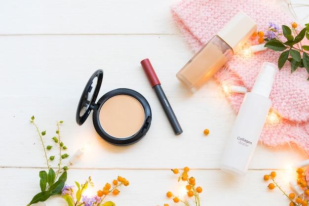 Cosmétiques de maquillage de beauté pour le visage de la peau de la femme