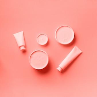 Cosmétiques, soins de la peau, beauté, concept de traitement du corps