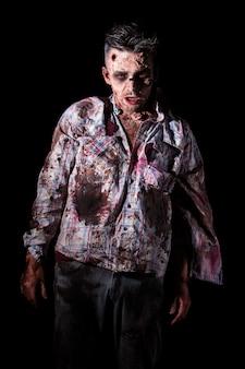 Cosplay de zombie effrayant