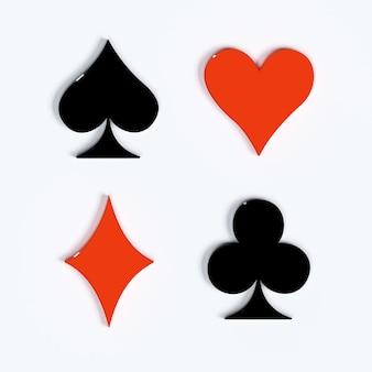 Costume de cartes à jouer rendu 3d