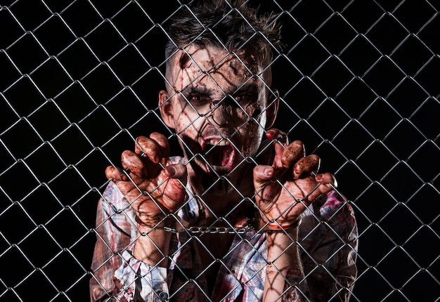 Costume de zombie effrayant cosplay
