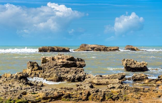 Côte atlantique à essaouira - maroc, afrique du nord