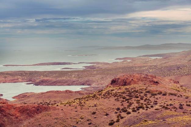 Côte atlantique de la patagonie en argentine