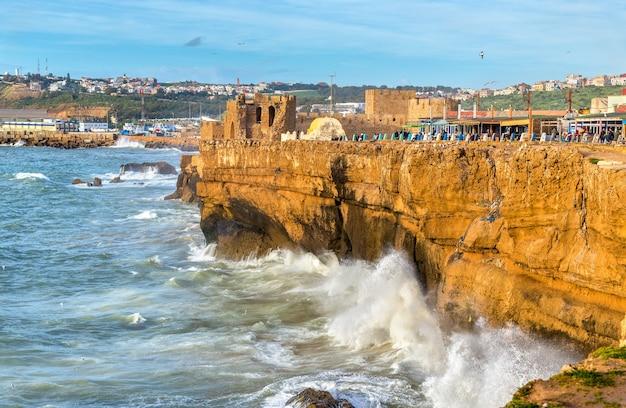 Côte atlantique à la ville de safi au maroc, afrique du nord