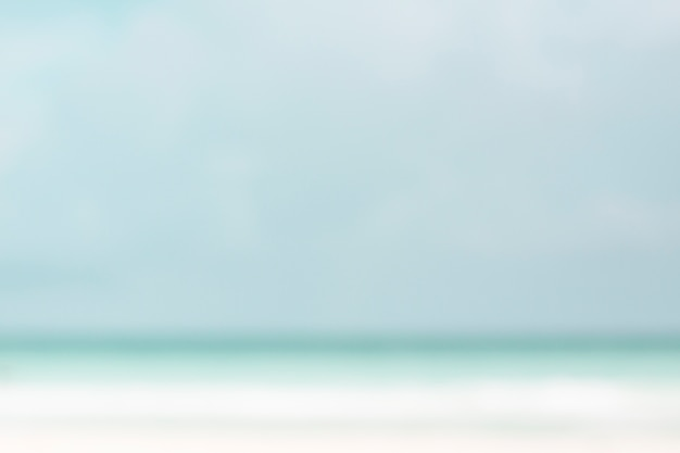Côte défocalisée à la plage