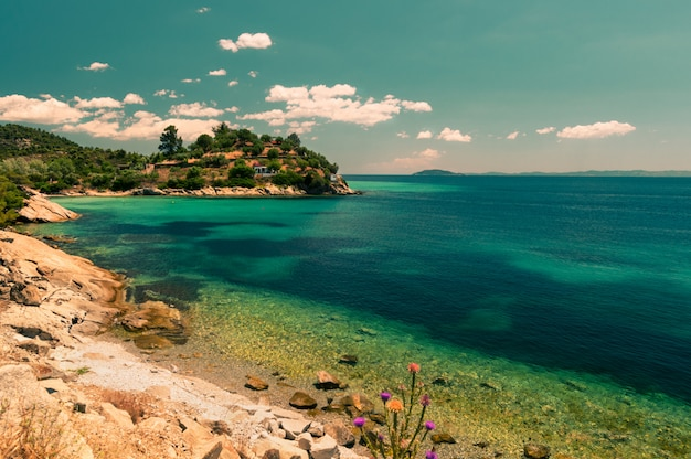 Côte grecque, image teintée