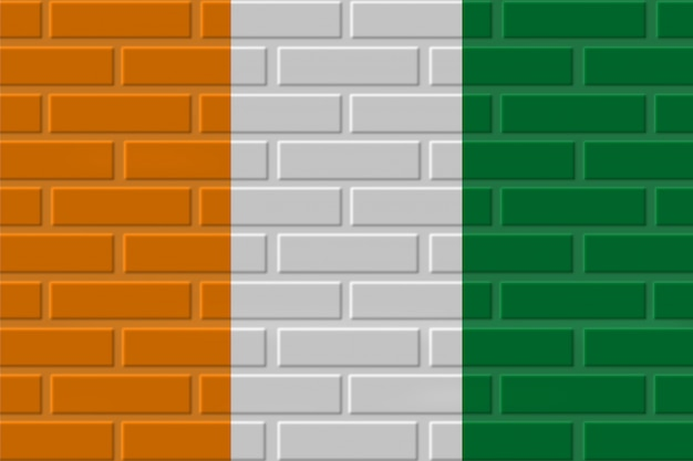 Côte d'ivoire - illustration de drapeau de brique de côte d'ivoire