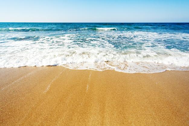 Côte de la mer, fond de texte