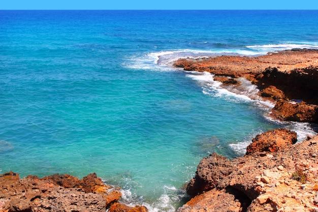 Côte de mer méditerranée bleue las rotas denia