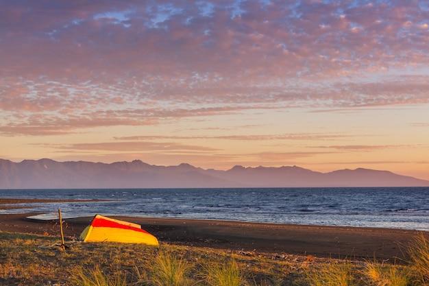 Côte de l'océan pacifique le long de la carretera austral, patagonie, chili