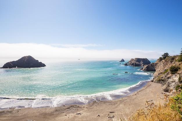 Côte pacifique en californie, usa