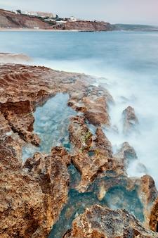Côte de la plage d'ericeira