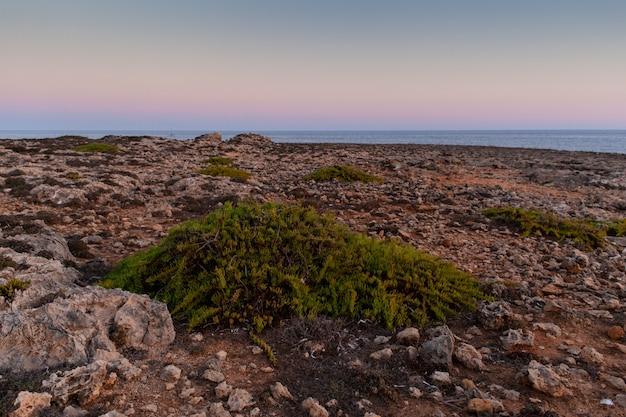 Côte rocheuse de lampedusa
