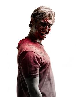 Côté zombie avec le visage sombre