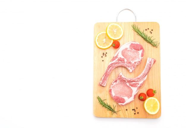 Côtelette de porc crue