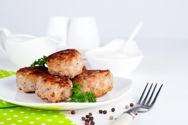 Côtelettes frites maison