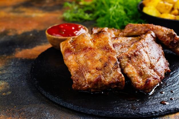 Côtes de porc bbq