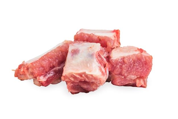 Côtes de porc crus