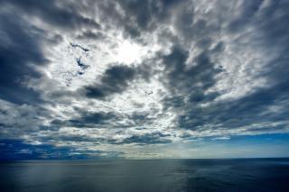Côtière nuages hdr l'image