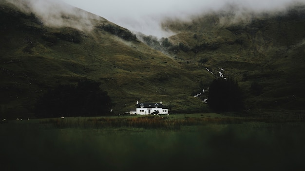 Cottage à glen etive, ecosse