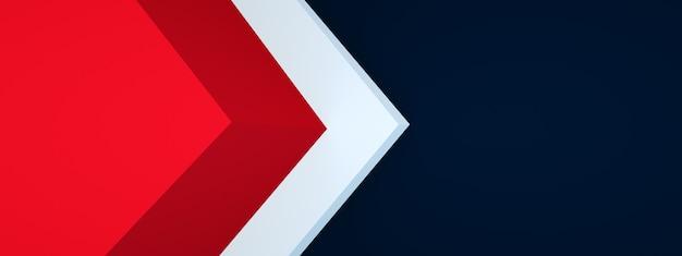 Couche de chevauchement d'arrière-plan de coin de flèche triangulaire pour la conception, rendu 3d, mise en page panoramique