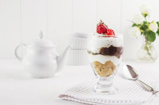 Couche de crème dessert