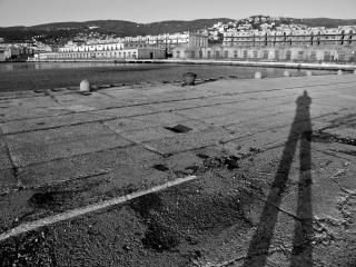 Coucher de soleil sur les anciens docks