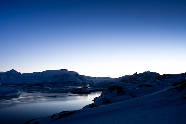Coucher de soleil antarctique