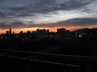 Coucher de soleil, coucher du soleil, la ville