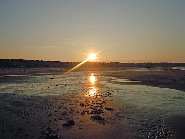 Coucher de soleil danemark mer baltique côte hornbk