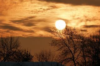 Coucher de soleil horizontal