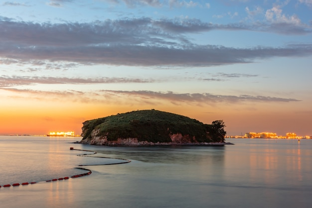 Coucher de soleil de l'île daebu à incheon, corée du sud.