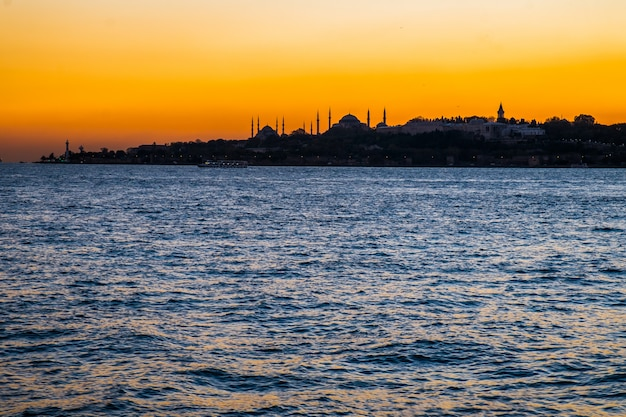 Coucher de soleil à istanbul