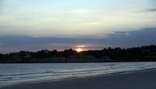 Coucher de soleil à newport