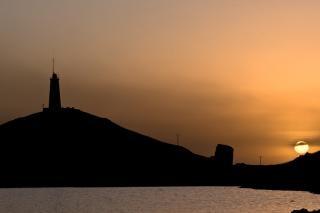 Coucher de soleil à la péninsule de reykjanes, falaises