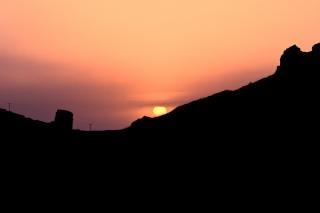 Coucher de soleil à la péninsule de reykjanes