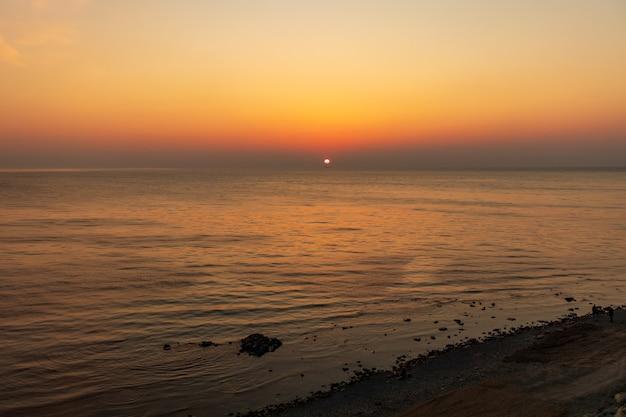 Coucher de soleil et plage