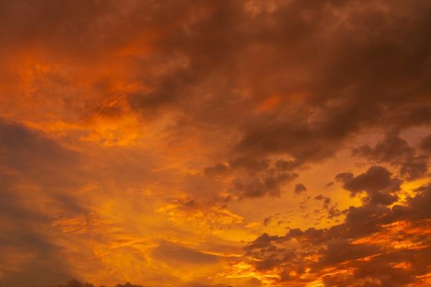 Coucher de soleil tropical rouge ardent d'une beauté inhabituelle.