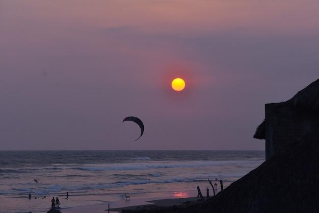 Couchers de soleil en mer