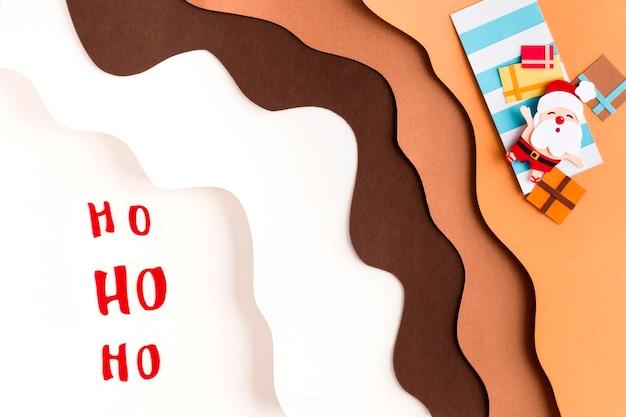 Couches De Sable Et De Neige Joyeux Noël Photo Premium