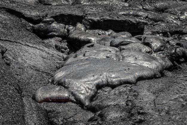 Coulée de lave dans le champ de lave hawaii volcanoes national park