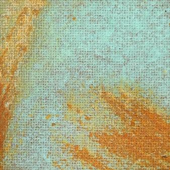 Couleur abstraite rouille sur plaque de métal