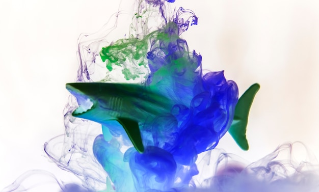 Couleur acryllique se dissolvant dans l'eau